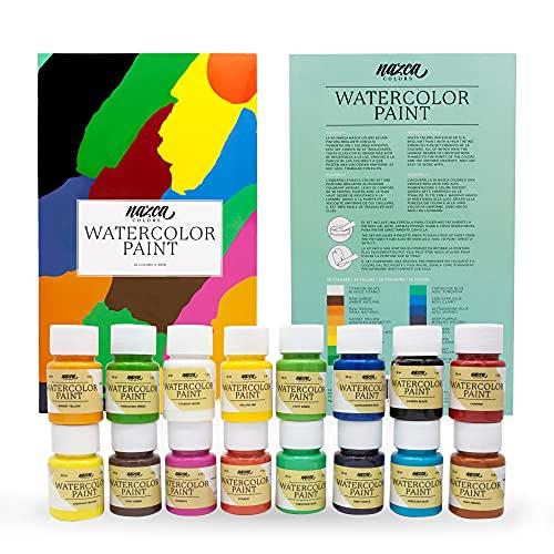Pintura Acuarela - set de 16 colores en botes de 30 ml. 50% Descuento.