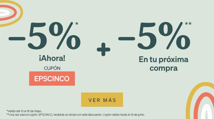 MiFarma CUPÓN DESCUENTO -5% DTO AHORA + -5% DTO EN TU PRÓXIMA COMPRA