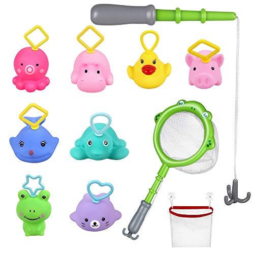 Kit de juguetes de baño para niños y bebés.