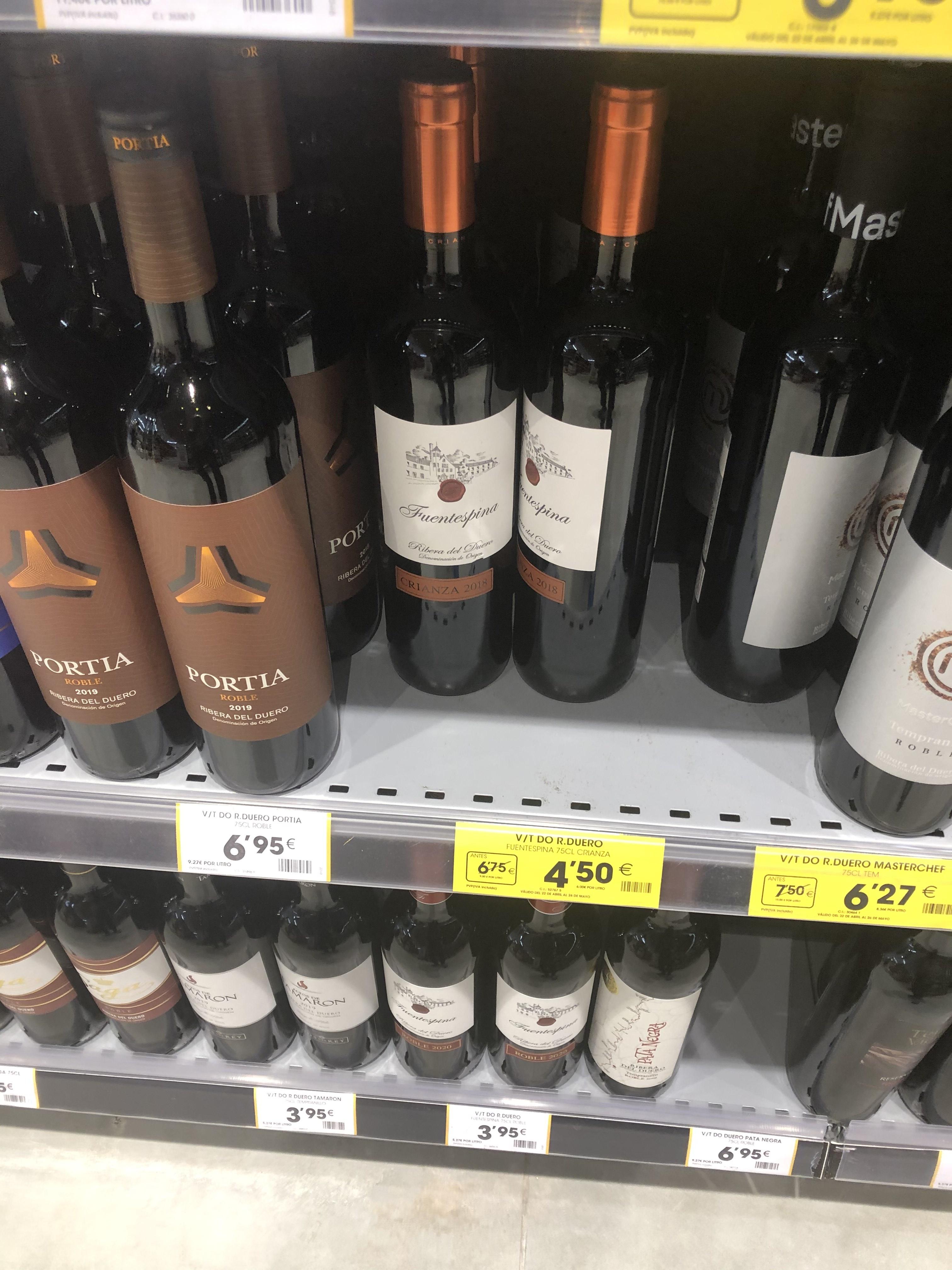 Vino Ribera del Duero en Ahorramas de Valdemoro