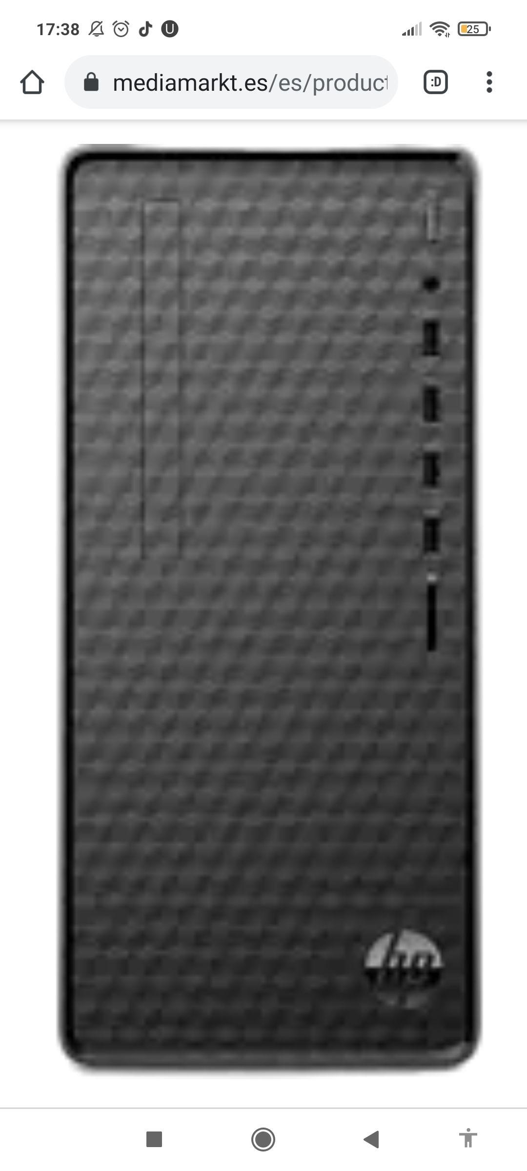 PC Sobremesa - HP Desktop M01-F1044ns, AMD Ryzen™ 5 4600G, 16GB, 512GB SSD, Radeon Graphics, FreeDOS, Negro