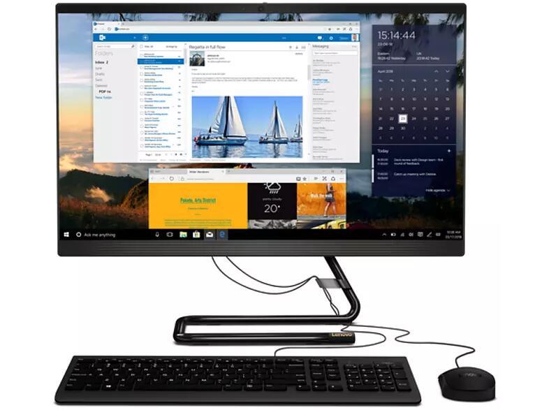 """All in one - Lenovo IdeaCentre AIO 3 24ARE05, 23.8"""" FHD, AMD Ryzen™ 3 4300U, 8GB RAM, 512GB SSD, Radeon™, FDOS"""