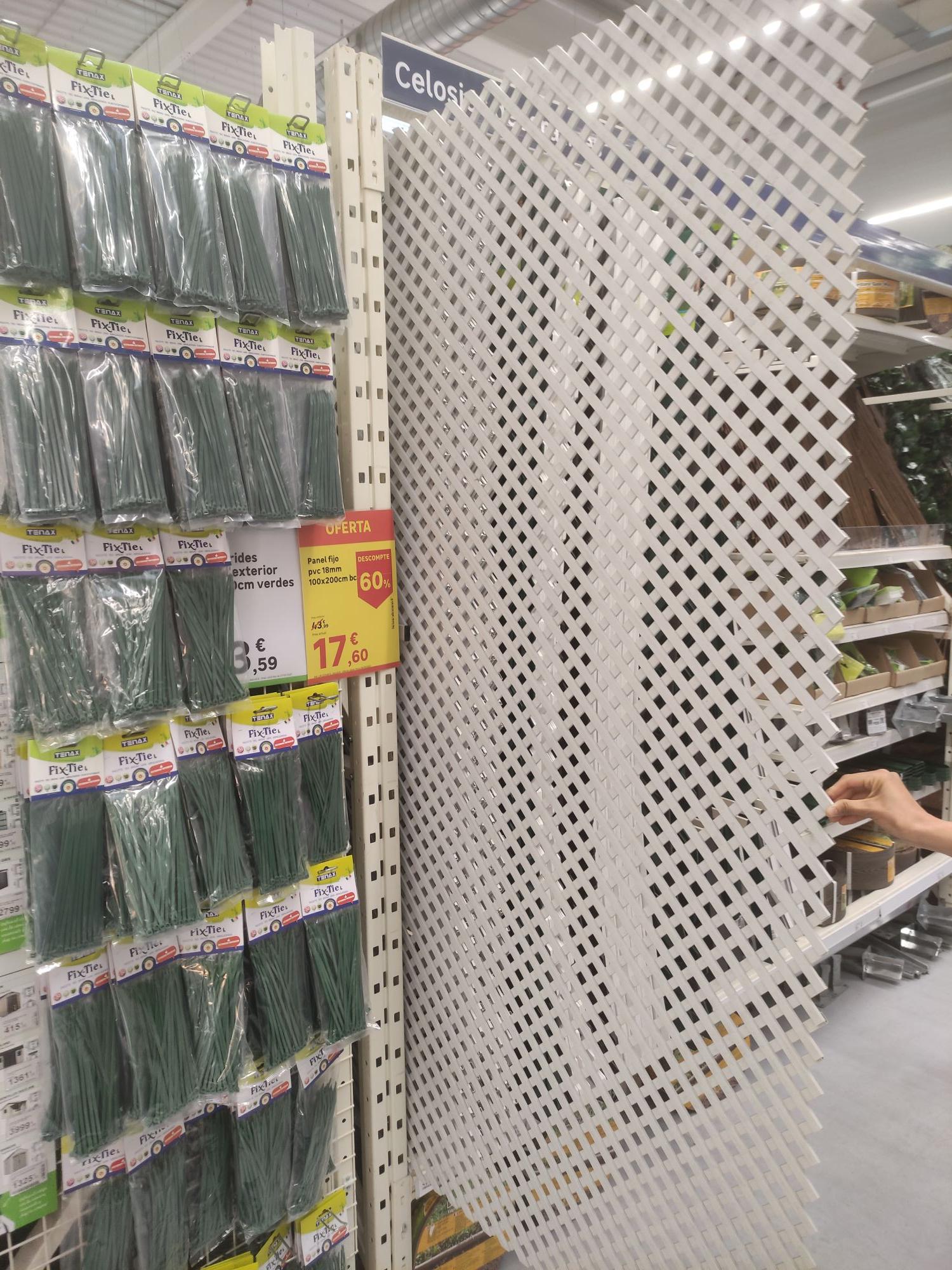 Panel fijo PVC 2mx1m blanco.