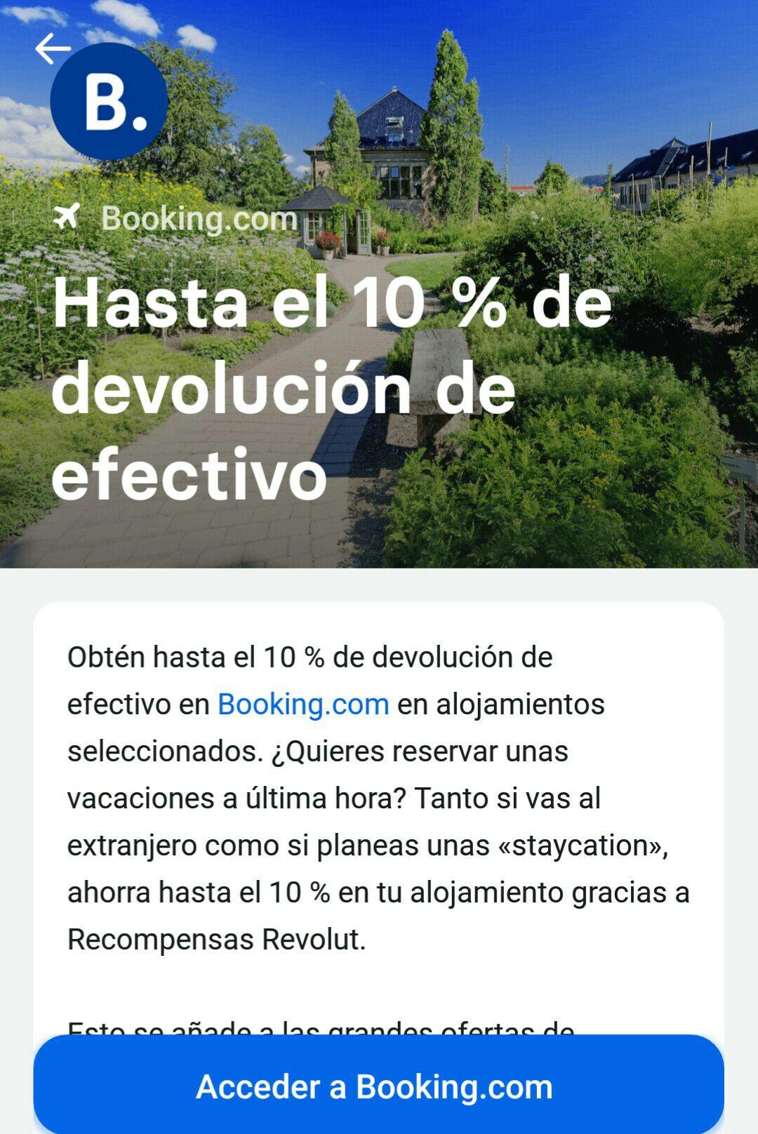 Revolut Te Reembolsa Hasta El 10% En Booking