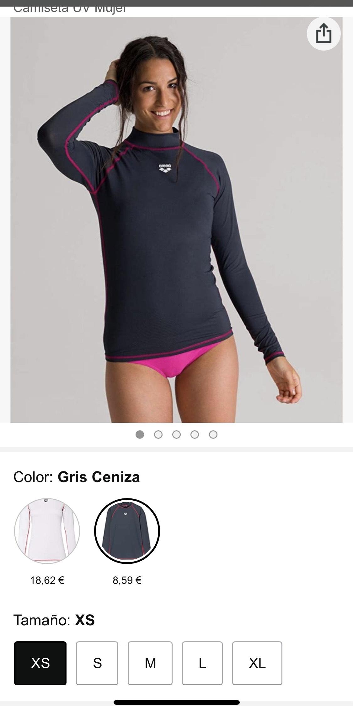 Tamaño: XS ARENA Camiseta UV Mujer