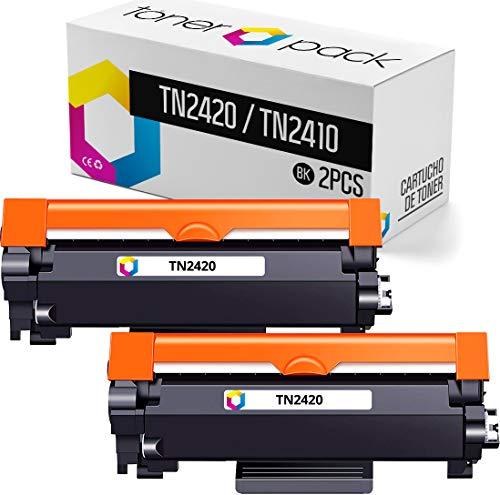 2 Tóner para Brother TN2420 (con Chip), Cartuchos de Tóner (Pack 2)