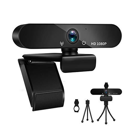 Fityou PC Webcam PC Full HD 1080P Micrófono con Cancelación de Ruido