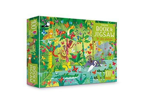 Puzzle y libro - In The Jungle(Usborne)