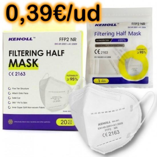 Caja 20 mascarillas FFP2 marca Keholl desde España