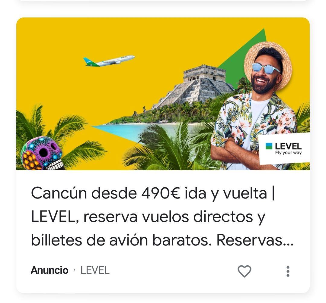 Vuelos Barcelona - Cancún directo