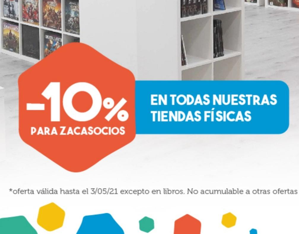 10% ZACATRUS. Sólo tiendas físicas. Juegos de mesa