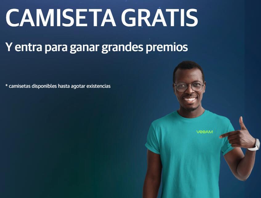 Camiseta GRATIS IBM + Veeam (Necesario email no personal)