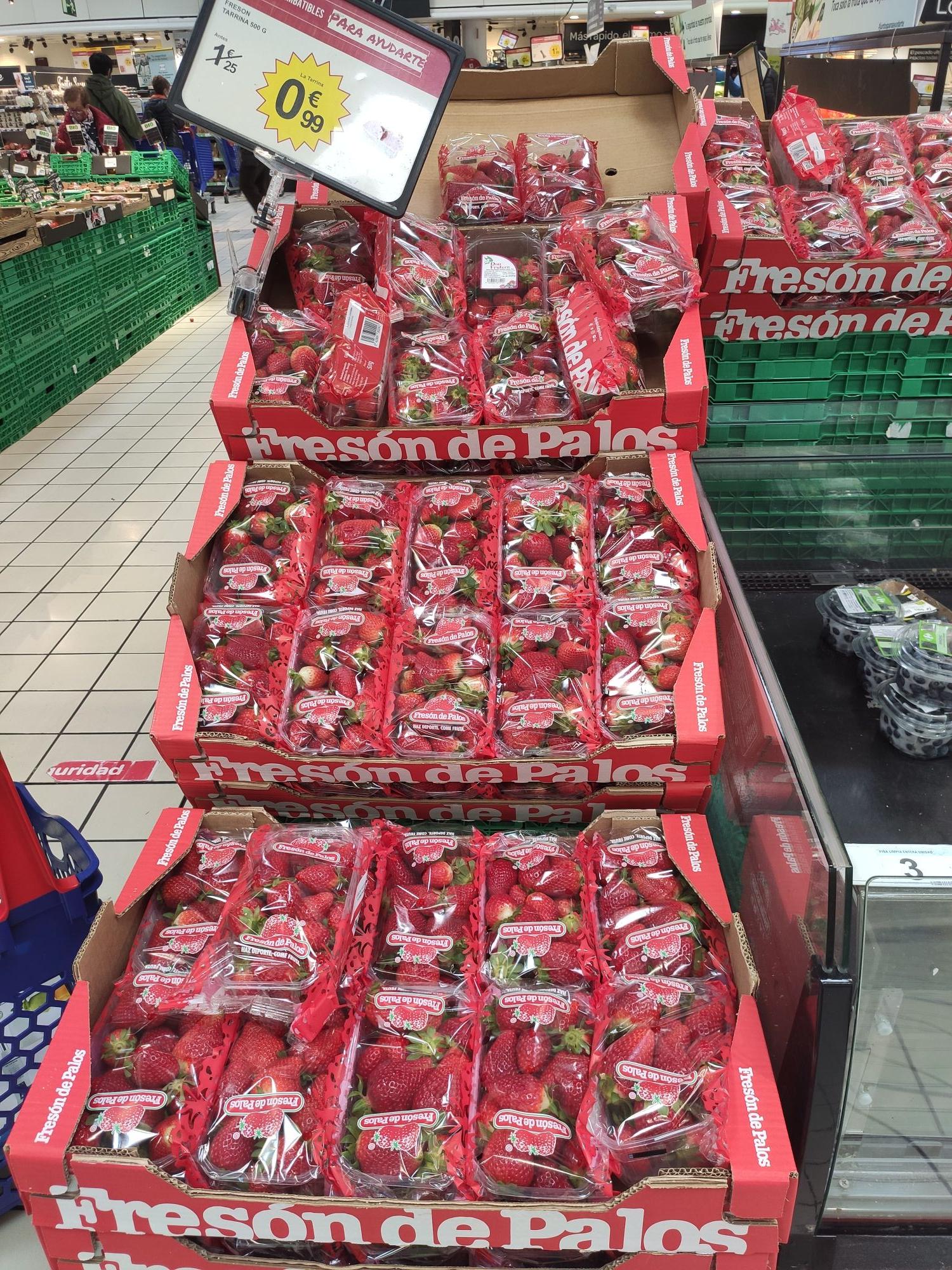 Fresas Fresón de Palos 0'99€/500gr