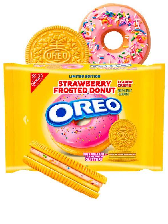 Oreo Doble Cream Donut de Fresa Glaseado Purpurina 345 grs