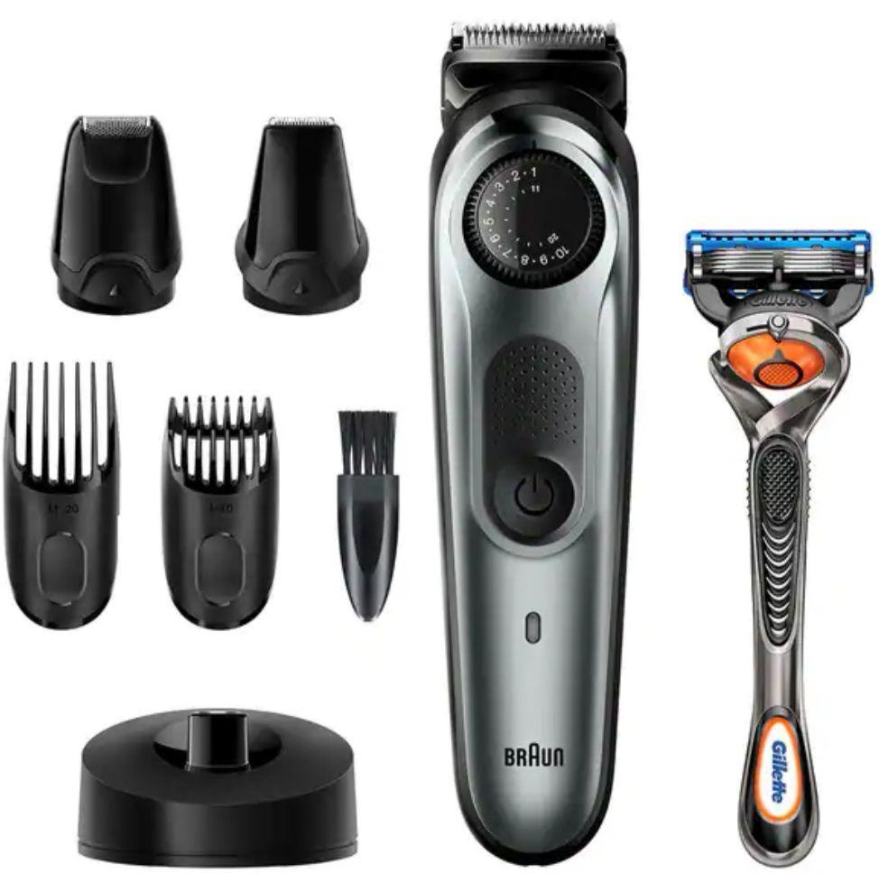 BRAUN BT7240-Recortadora de barba y cortapelos con 39 ajustes de longitud