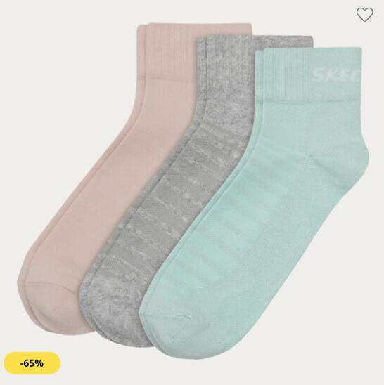 3 Pares Calcetines Skechers por 6,99€