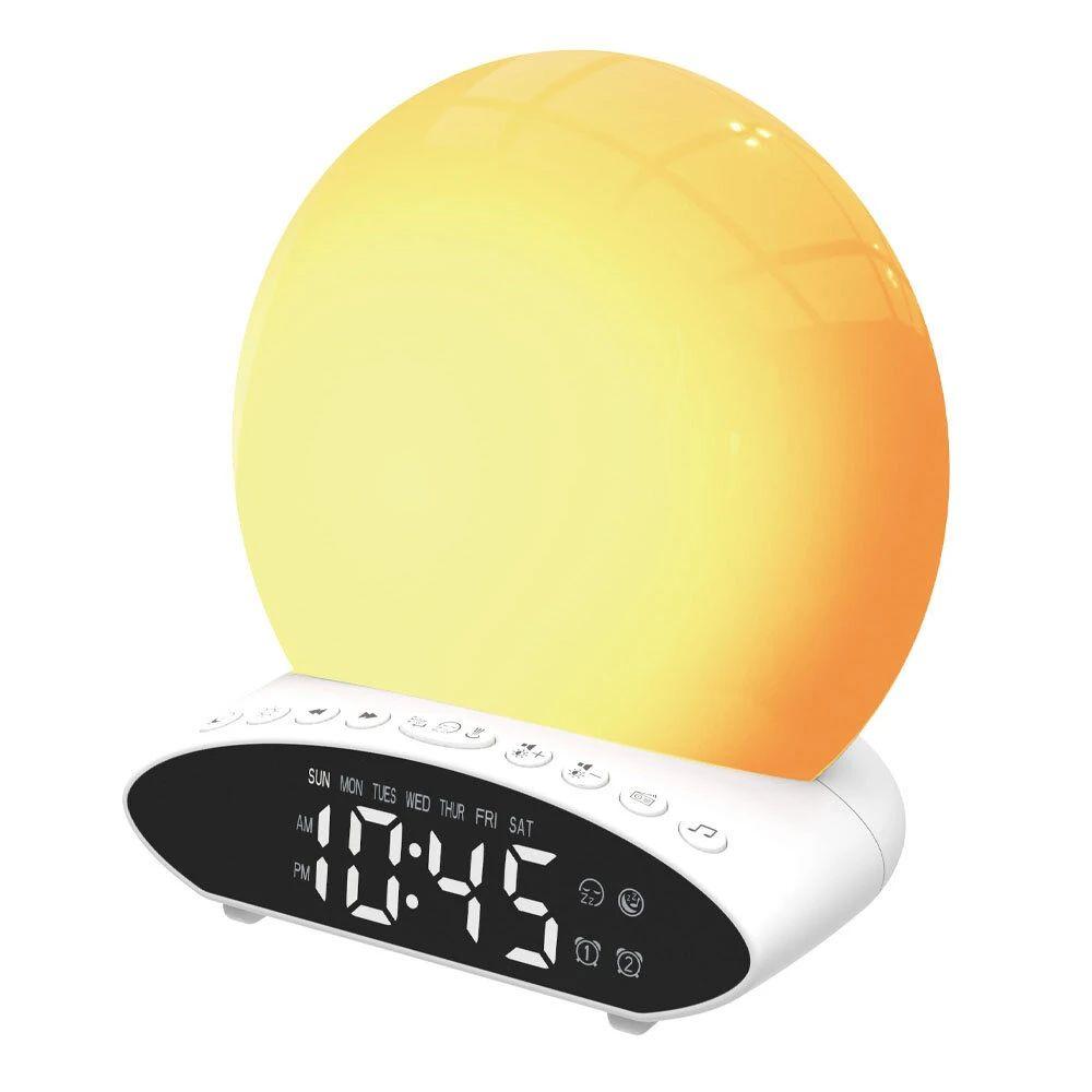 Reloj despertador con radio FM y 7 colores