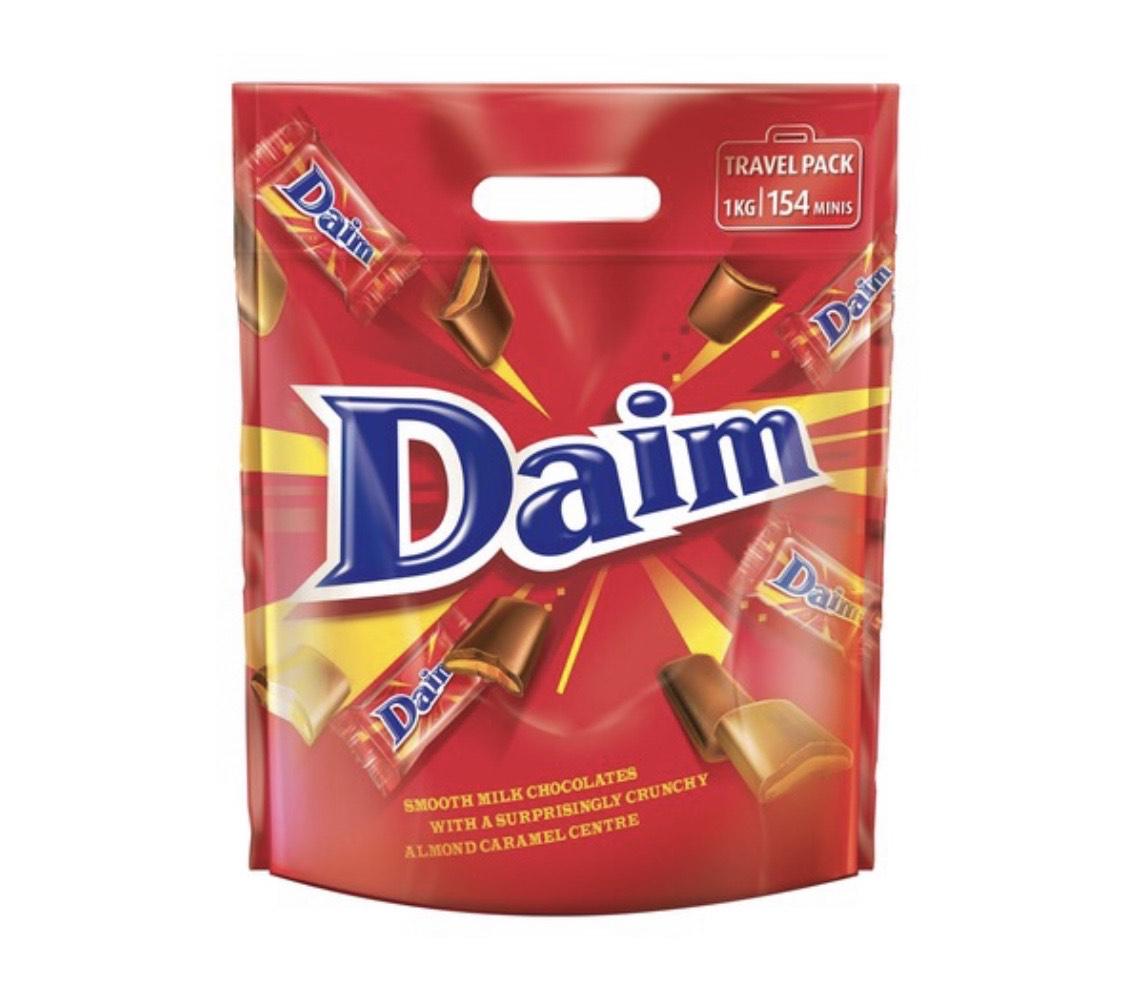 Chocolatinas Daim (1 kg, 154 unidades)
