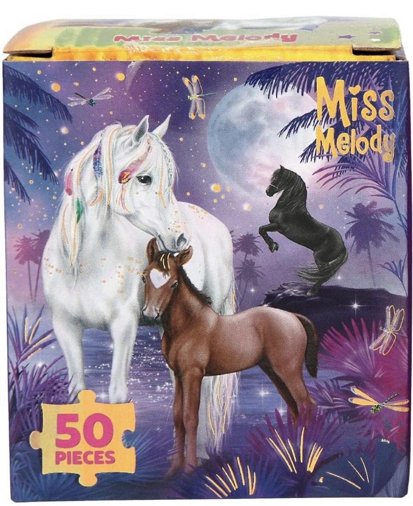 Depesche- Miss Melody - Puzzle de 50 Piezas, carbón