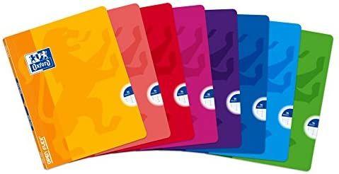 Oxford Pack de 10 libretas grapadas de tapa blanda, A5+