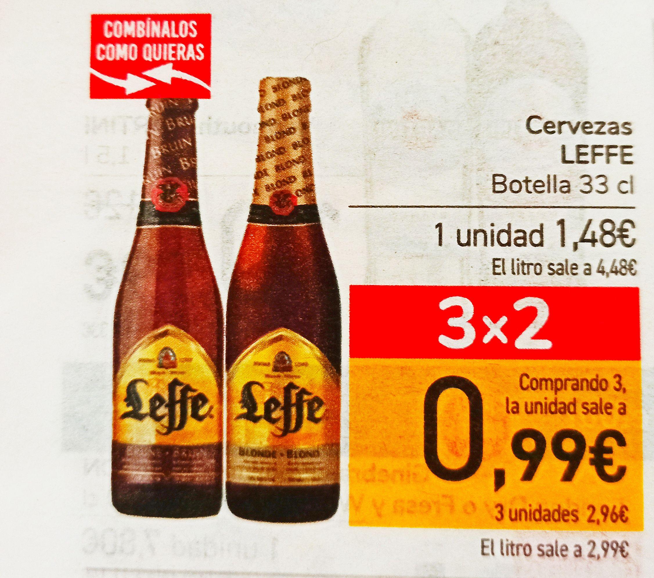 Cerveza Leffe a menos de 1€ con el 3X2 de Carrefour
