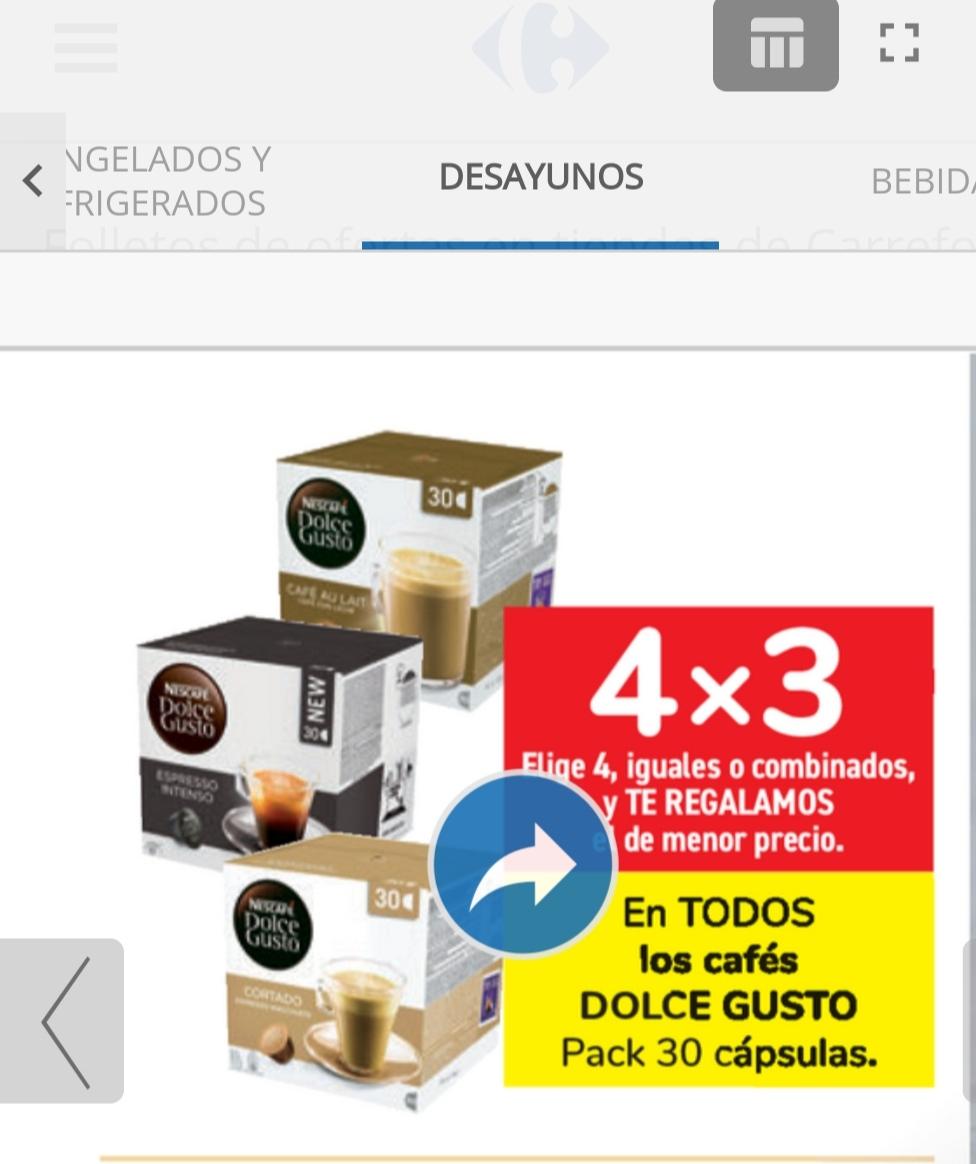 Capsulas dolce gusto 4x3 cajas de 30 capsulas