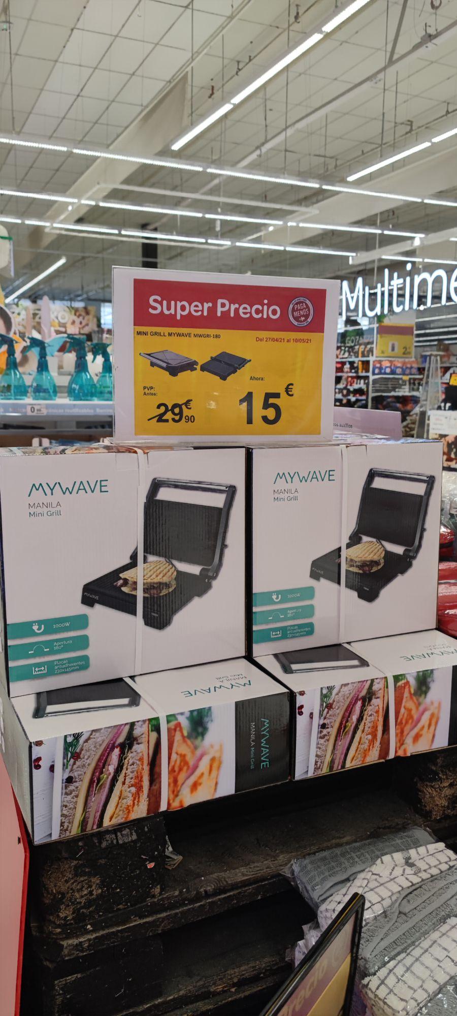 Mini grill mywave en Carrefour Sestao