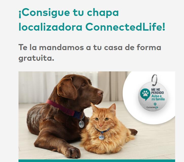 Chapa de localización para mascotas gratis