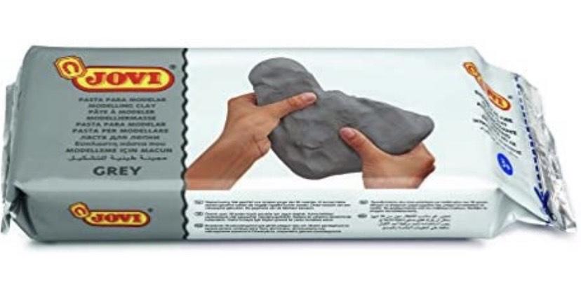 Jovi- Air Dry Pastilla Endurecible para Modelar, Color gris, 1 kilo