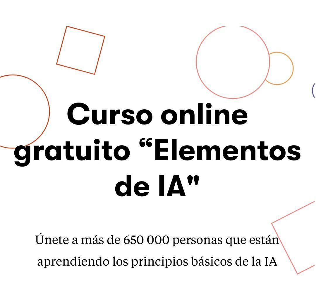 """Curso online gratuito """"Elementos de IA"""" (inteligencia artificial)"""