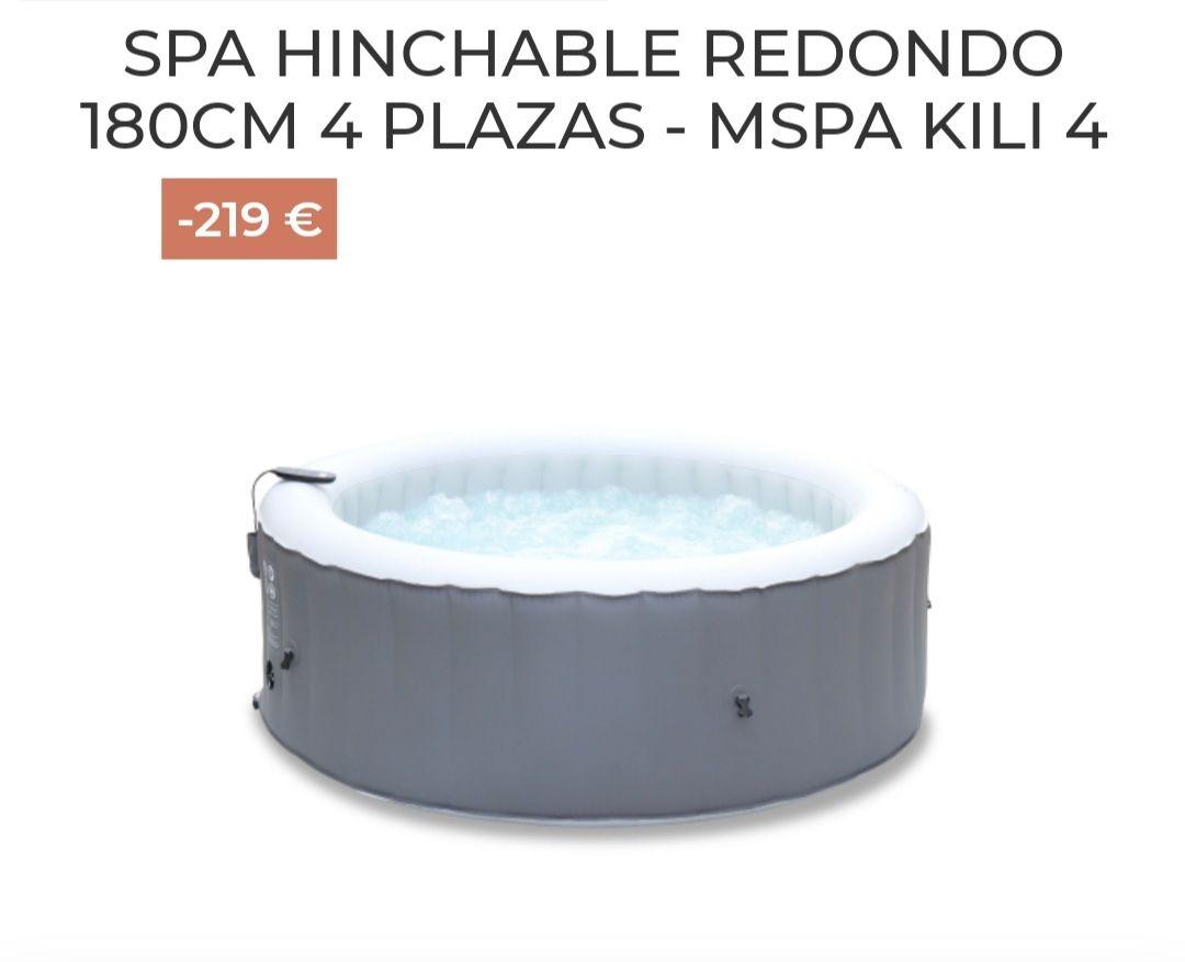 SPA HINCHABLE REDONDO 180CM 4 PLAZAS - MSPA KILI 4