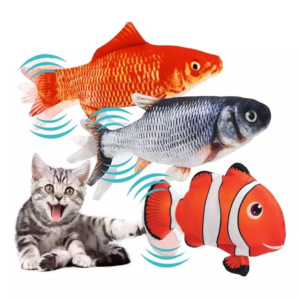 Pez flotante (juego para gatos)
