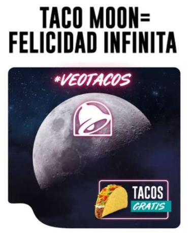 TacoBell TACOS GRATIS 4 de Mayo