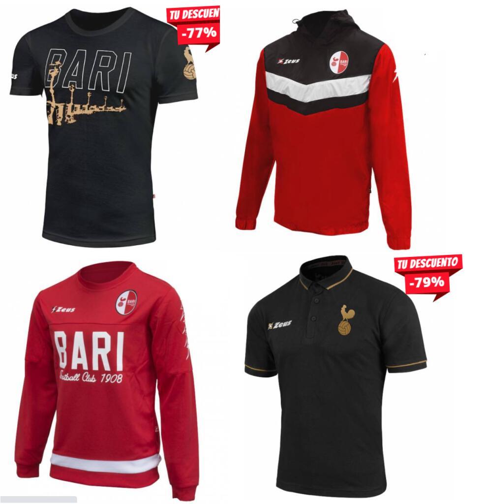 PRECIAZOS En Ropa Deportiva del SSC Bari (Camisetas, Chaquetas, Polos, Equipaciones Completas...)