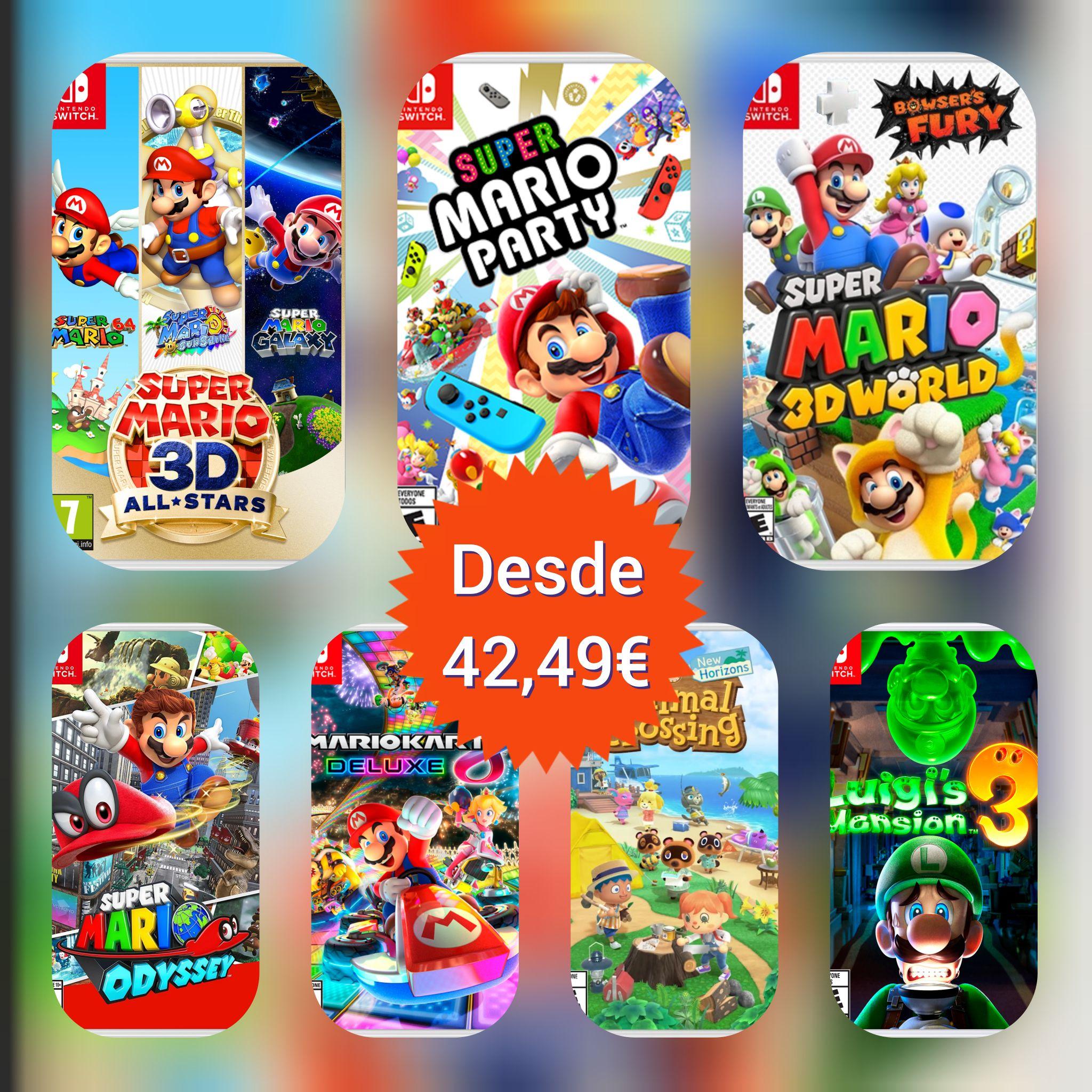 Juegos Nintendo Switch desde 42,49€