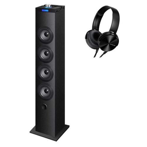 Torre Innova TW10 + Auriculares - 40W, Bluetooth, Mando, Batería 1000mAh, Salida Óptica, MP3 USB