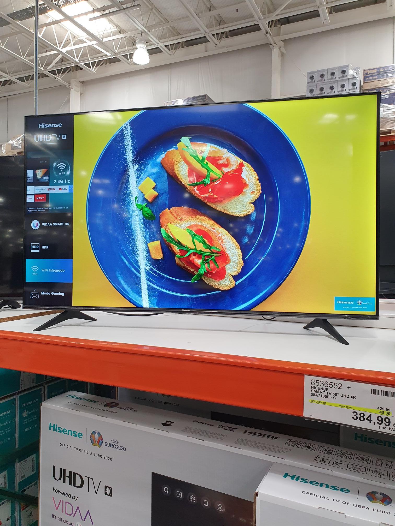 TV 4K Hisense 58A7100F