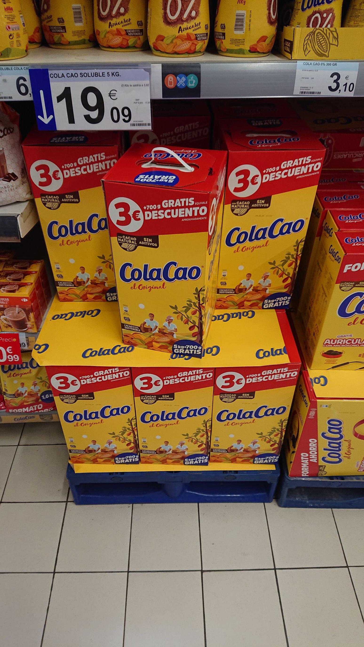 ColaCao por 3.35 € kg en Carrefour de Zamora