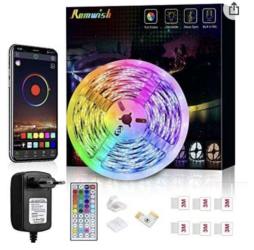 Tiras LED 5M, Romwish 5050 SMD RGB
