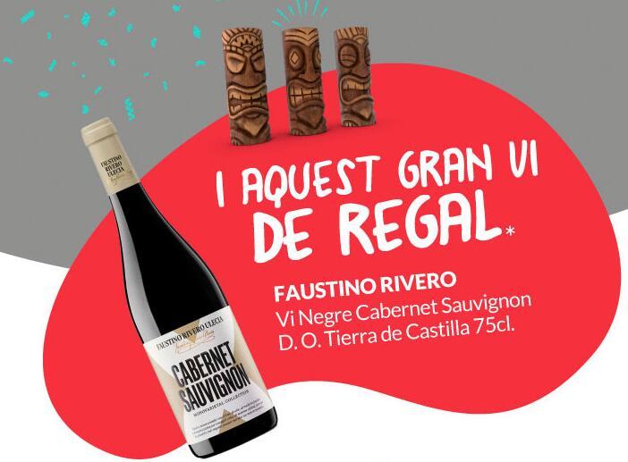 Mini botella vino gratis en inauguración de primaprix en Barcelona calle industria 354