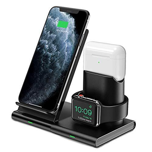 Cargador inalámbrico para Iphone 3 en 1 Compatible con android