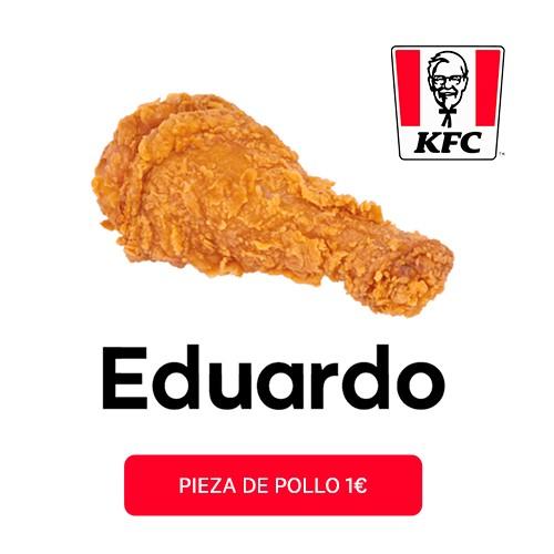 """1 Pieza de Pollo de KFC """"Eduardo"""""""