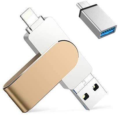 Memoria USB para iPhone 128 GB ,Qarunt 4 en 1
