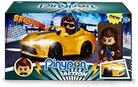 Pinypon Action - Súper Coche con la Figura de un espía y Accesorios