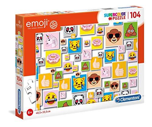 Puzzle Emoji , 104 Piezas, Multicolor