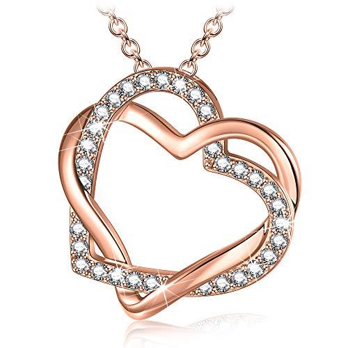 Collar de Corazón, para Mujer, Plata 925 con Circonita 3A