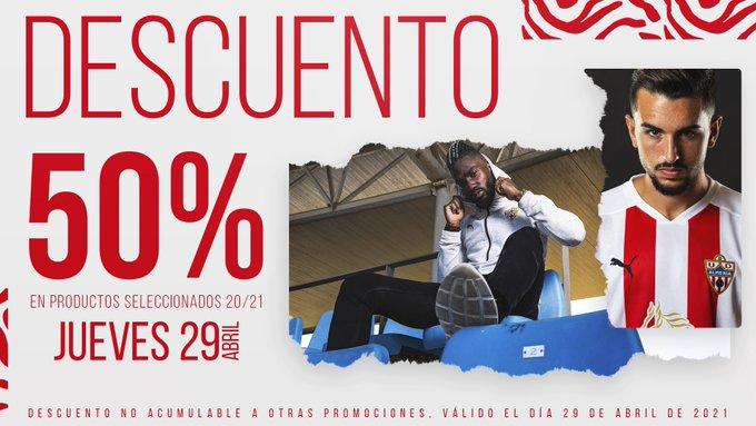 50% en la tienda de la UD Almeria