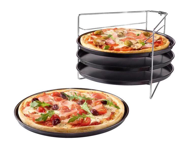 Set de moldes para pizza 5 piezas (4 moldes + soporte)