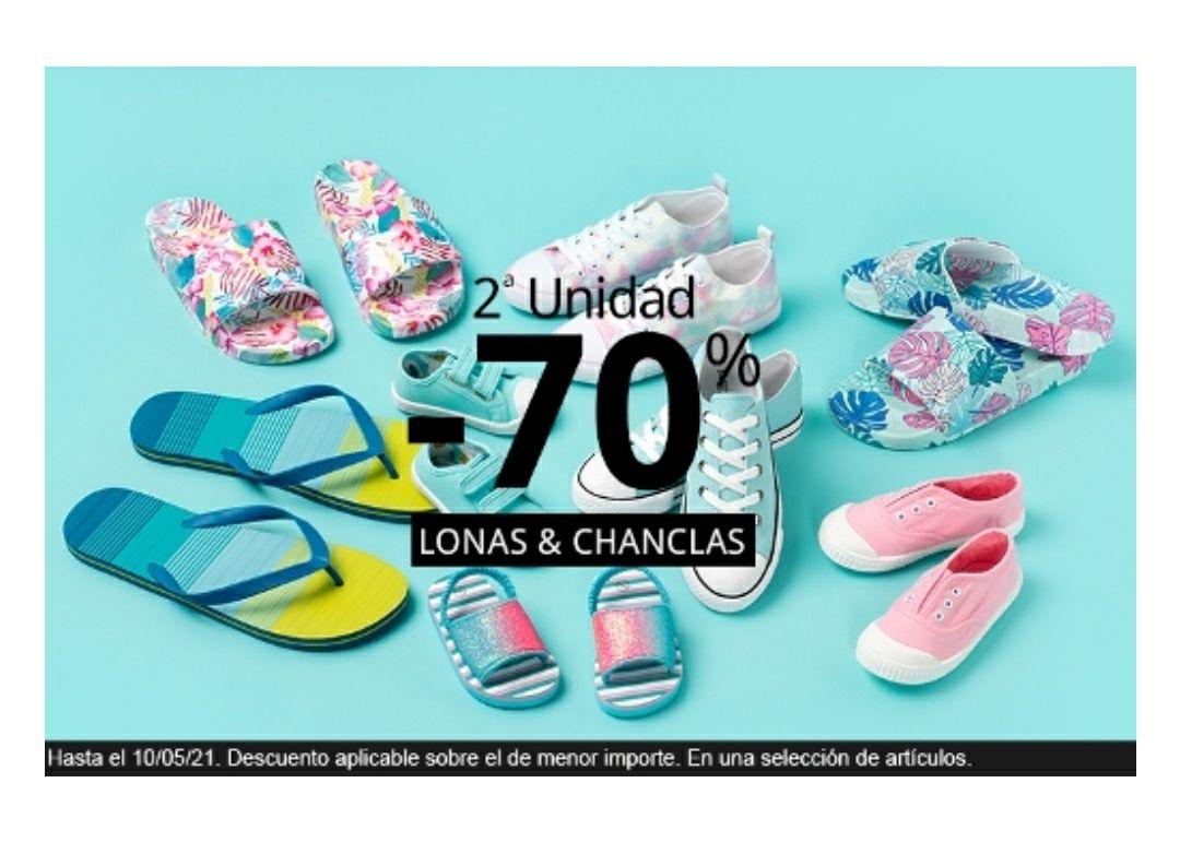 Calzado infantil verano 2ª unidad al 70% en Carrefour