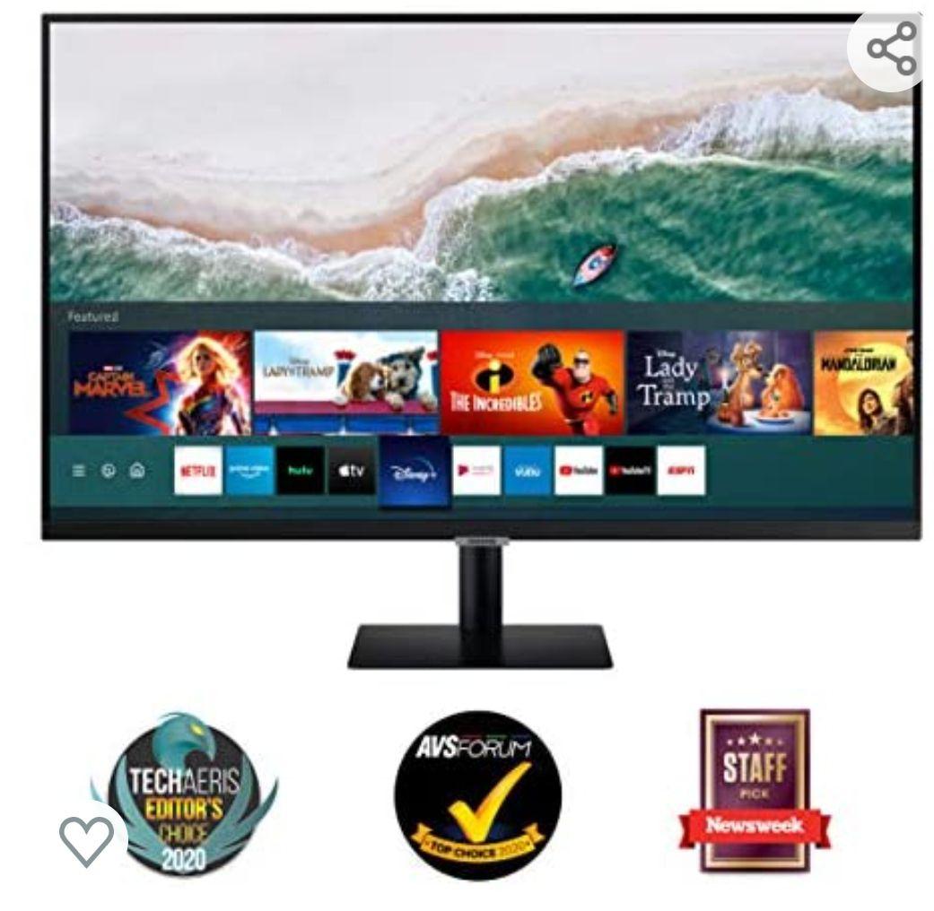 Samsung Smart M5 de 27 pulgadas LS27AM502NUXEN con Tecnología Full HD (1920x1080), Altavoces, Conectividad Móvil